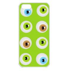 Eyes Background Structure Endless Apple Iphone 5 Seamless Case (white)