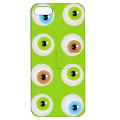 Eyes Background Structure Endless Apple Iphone 5 Hardshell Case With Stand