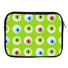 Eyes Background Structure Endless Apple Ipad 2/3/4 Zipper Cases