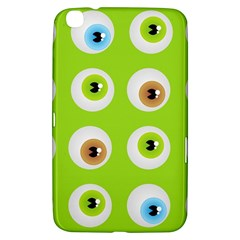 Eyes Background Structure Endless Samsung Galaxy Tab 3 (8 ) T3100 Hardshell Case