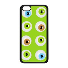 Eyes Background Structure Endless Apple iPhone 5C Seamless Case (Black)