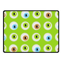 Eyes Background Structure Endless Double Sided Fleece Blanket (small)