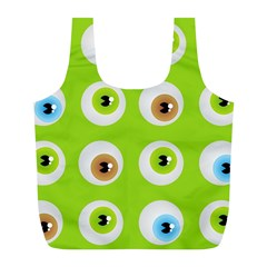 Eyes Background Structure Endless Full Print Recycle Bags (l)