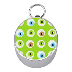 Eyes Background Structure Endless Mini Silver Compasses