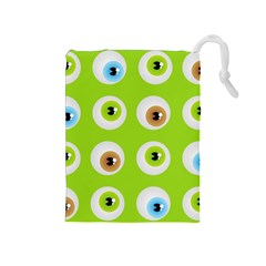 Eyes Background Structure Endless Drawstring Pouches (medium)