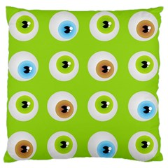 Eyes Background Structure Endless Large Flano Cushion Case (two Sides)