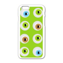 Eyes Background Structure Endless Apple Iphone 6/6s White Enamel Case
