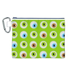 Eyes Background Structure Endless Canvas Cosmetic Bag (l)