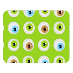 Eyes Background Structure Endless Double Sided Flano Blanket (large)