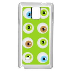Eyes Background Structure Endless Samsung Galaxy Note 4 Case (white)