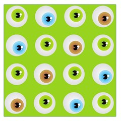 Eyes Background Structure Endless Large Satin Scarf (square)