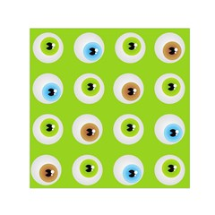 Eyes Background Structure Endless Small Satin Scarf (square)