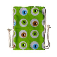 Eyes Background Structure Endless Drawstring Bag (small)