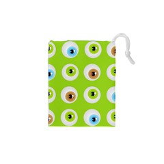 Eyes Background Structure Endless Drawstring Pouches (xs)