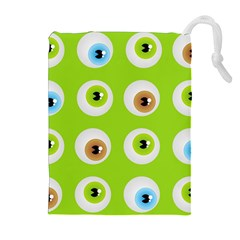 Eyes Background Structure Endless Drawstring Pouches (extra Large)