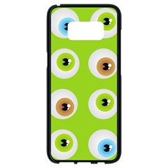 Eyes Background Structure Endless Samsung Galaxy S8 Black Seamless Case