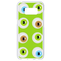 Eyes Background Structure Endless Samsung Galaxy S8 White Seamless Case