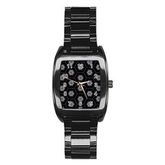 Mandala Calming Coloring Page Stainless Steel Barrel Watch