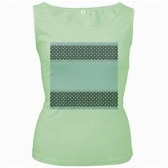Blue Modern Women s Green Tank Top