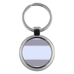 Blue Modern Key Chains (Round)