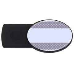 Blue Modern USB Flash Drive Oval (1 GB)