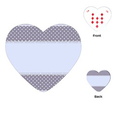 Blue Modern Playing Cards (Heart)