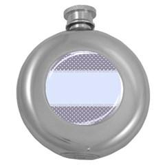 Blue Modern Round Hip Flask (5 oz)