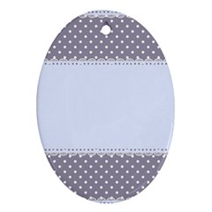 Blue Modern Oval Ornament (two Sides)