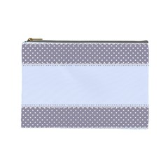 Blue Modern Cosmetic Bag (Large)