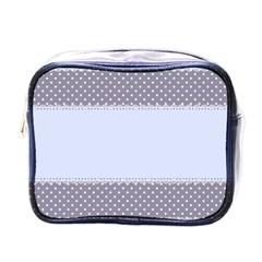Blue Modern Mini Toiletries Bags