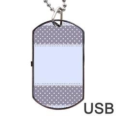 Blue Modern Dog Tag Usb Flash (two Sides)