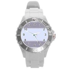 Blue Modern Round Plastic Sport Watch (l)