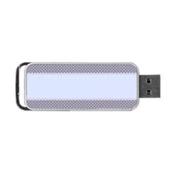 Blue Modern Portable USB Flash (One Side)
