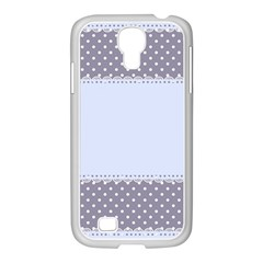 Blue Modern Samsung Galaxy S4 I9500/ I9505 Case (white)