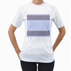 Blue Modern Women s T Shirt (white)