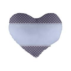 Blue Modern Standard 16  Premium Flano Heart Shape Cushions