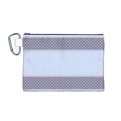Blue Modern Canvas Cosmetic Bag (M)