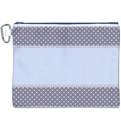 Blue Modern Canvas Cosmetic Bag (XXXL)