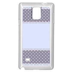 Blue Modern Samsung Galaxy Note 4 Case (White)