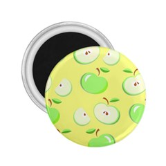 Apples Apple Pattern Vector Green 2 25  Magnets