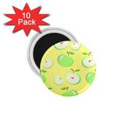 Apples Apple Pattern Vector Green 1 75  Magnets (10 Pack)