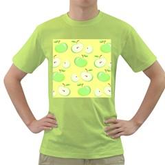 Apples Apple Pattern Vector Green Green T-Shirt