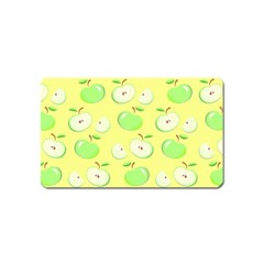 Apples Apple Pattern Vector Green Magnet (name Card)