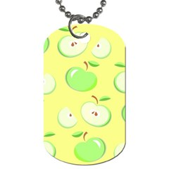 Apples Apple Pattern Vector Green Dog Tag (two Sides)