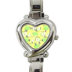 Apples Apple Pattern Vector Green Heart Italian Charm Watch