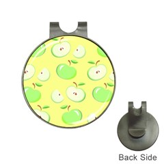 Apples Apple Pattern Vector Green Hat Clips With Golf Markers