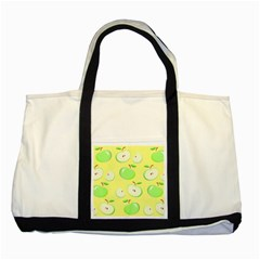 Apples Apple Pattern Vector Green Two Tone Tote Bag