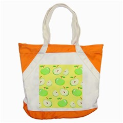 Apples Apple Pattern Vector Green Accent Tote Bag