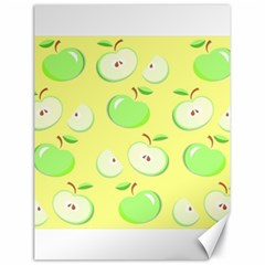 Apples Apple Pattern Vector Green Canvas 18  X 24