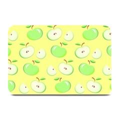 Apples Apple Pattern Vector Green Plate Mats